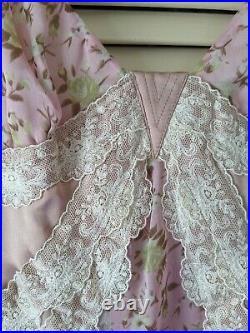 Vintage D&G Dolce & Gabbana Silk Lace Chiffon Slip Dress Size 46 IT NWT $775