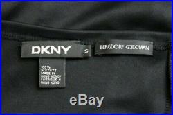 Vintage DKNY Donna Karan New York 1990s Acetate Jersey Ruffled Slip Dress Small