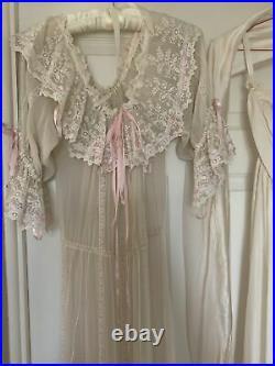 Vintage Daniel Fielden Maxi Dress With Silk Bandeau Maxi Slip Very Pretty 10