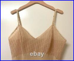Vintage Dior Logo Monogram Trotter Oblique Beige Lingerie Silk Slip Summer Dress