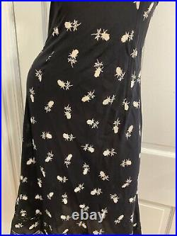 Vintage Dolce & Gabbana Sheer Black Silk Midi Slip Dress It 42 S-M