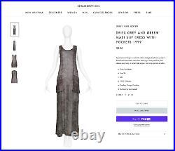 Vintage Dries Van Noten Maxi Slip Dress with Pockets 1999