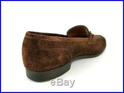 Vintage Edward Green Paul Stuart 11 C Suede Leather Slip On Penny Loafer Shoes