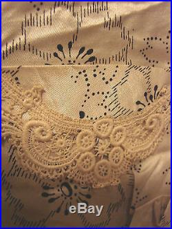 Vintage Edwardian Skirt Bodice Slip 3pc Set Satin POUTER Antique Dress +FABRIC