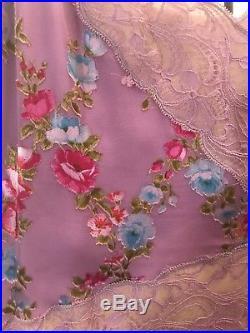 Vintage Emanuel Ungaro Silk Midi Floral Slip Dress 36