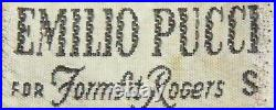 Vintage Emilio Pucci EPFR 60s 70s Mini Shift Lingerie Nighty Slip Dress XS S
