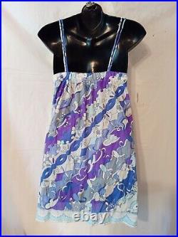 Vintage Emilio Pucci EPFR-Slip Mini Dress & Pantie Set-Small-Size 4-6-Bust-36-38