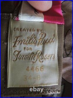 Vintage Emilio Pucci Formfit Rogers EPFR Slip Mini Dress Size 34 B