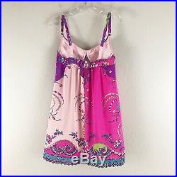 Vintage Emilio Pucci Formfit Rogers Lingerie Slip Dress 60s Pink Floral 34-C