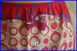Vintage Emilio Pucci Half Dress Slip 1960s Pink Purple Geometric Slip Skirt S/M