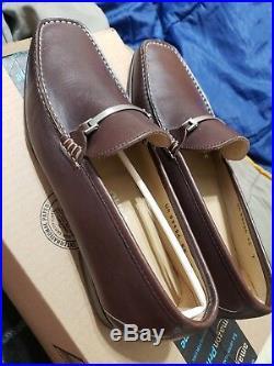 Vintage FERRAGAMO SUPERB BROWN BITS DRESS SLIP-ON LOAFER SHOES SIZE 7 EE