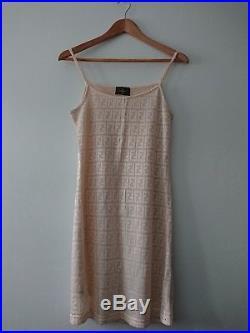 Vintage Fendi zucca slip dress