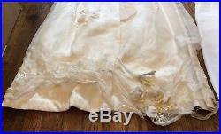 Vintage Floral Scalloped Neck Chiffon Wedding Dress With Petticoat Slip Handmade