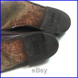 Vintage Florsheim Yuma Burgundy Shell Cordovan Slip-On Loafers Shoes Mens 9.5 C
