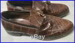 Vintage FootJoy Genuine Brown Slip On Dress Shoes Leather Sz 11