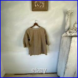 Vintage French woman's Wool Dress Slip Chemise under layer clothing work wear