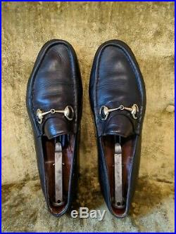 Vintage GUCCI Men's Horse Bit Driving Loafers Slip On Shoes &Box Size 46 US 12.5