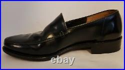 Vintage George Cox Black Leather Slip On Loafer Shoes UK Size 7 RRP £200+