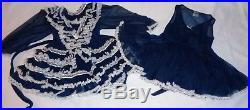 Vintage Girls SZ 4 DADDEESE LIL PRINCESS Full-Circle SLIP & Dress Ruffley LACE