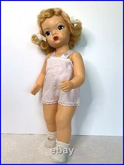 Vintage Golden Blonde Terri Lee Doll Yellow TL Dress, Slip, Shoes 1950s 16