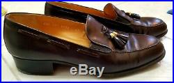 Vintage Gucci Mens Brown loafer/slip-ons with GG logo tassel Euro 43 1/2 D Italy