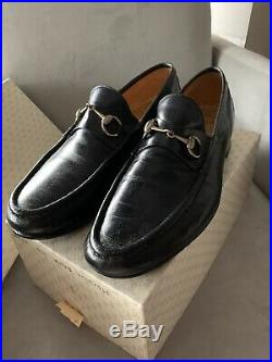 Vintage Gucci Mens Horse Bit Driving Loafers Slip On Shoes Size 46.5 M
