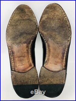 Vintage Gucci for Rossi Black Slip On Loafers GG Tassel Shoes Mens Sz 9 M
