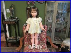 Vintage Ideal G-35 PATTI PLAYPAL DOLL 35 Tall, Yellow Dress & Slip, Very Nice