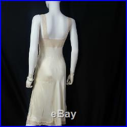 Vintage Ivory Slip Dresses, Heavenly Silk Lingerie by Fischer Size S