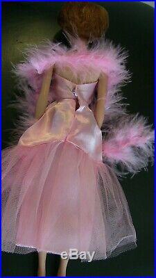 Vintage Japanese Exclusive Bubblecut Barbie in JE Pink Formal Dress Slip BOa LOT