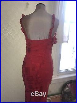 Vintage John Galliano Bias Cut Slip Dress Amazing Print