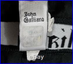 Vintage John Galliano Black White Iconic Gazette Newspaper Slip Dress Size Small