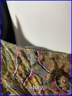 Vintage Johnny Was Silk Slip Dress Small Paisley Spaghetti Strap 90s Look