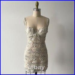 Vintage La Perla Lace Slip Dress Chemise Demi Bra