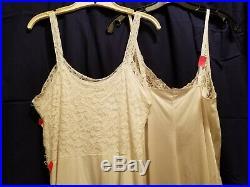 Vintage Lace bodice 8 Full Slips 32 & 36 Vassarette Kayser Caressa Vanity Fair