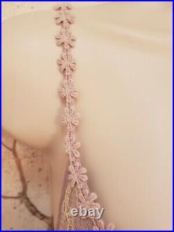 Vintage Lavendar Free People Large Layered Lace Slip Dress