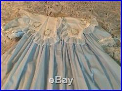 Vintage Light Blue Strasburg Heirloom Collection size 7 Dress with slip