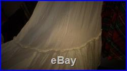 Vintage Long Dress Plaid Multi-Color + Long Full Skirt Off White Slip Handmade