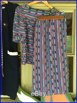 Vintage Lot 20s Flapper Style 70s 80s Dresses Shorts Skirt Belt Tie Slip XS S M