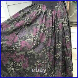 Vintage Luna Luz Maxi Sleeveless Bodice And Skirt Slip On Long Dress Size Medium