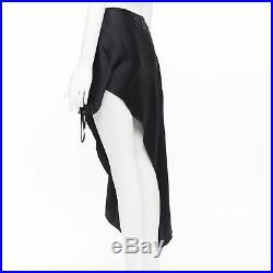 Vintage MARTIN MARGIELA black silk deconstructed side way slip dress skirt IT38