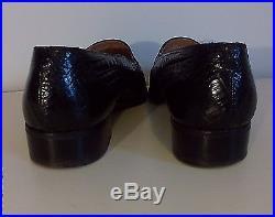 Vintage MAURI Men's ALLIGATOR SKIN, size 9 Black, slip- on dress shoe