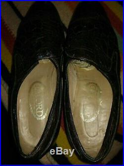 Vintage MILORD Genuine Turtle Loafers Slip On Dress Shoes Mens Size 8.5 Exotic