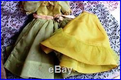 Vintage Madam Alexander Cissy Green Nylon dress and Slip 1957 OUTFIT # 2142 TAG