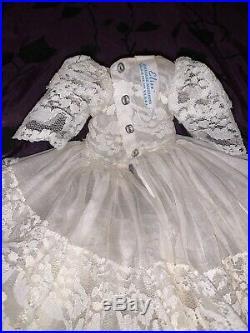 Vintage Madame Alexander 1964 Chantilly Bride #1740 Dress, Veil, Slip, & Panty