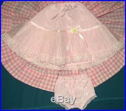 Vintage Madame Alexander Dress For Cissy Doll 20 Has Slip, Panties, Belt