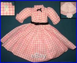 Vintage Madame Alexander Dress For Cissy Doll 20 Slip + Panties + Belt