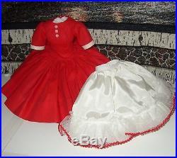 Vintage Madame Alexander Red Dress + Slip For Cissy Doll 20 Tall