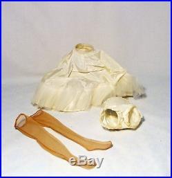Vintage Madame Alexander Tagged Cissy Navy Blue Taffeta Dress Slip Panties Hose