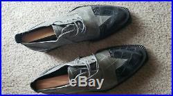 Vintage Mens MAURI Genuine Alligator Slip On Dress Shoes Italy Made Size 9.5 M